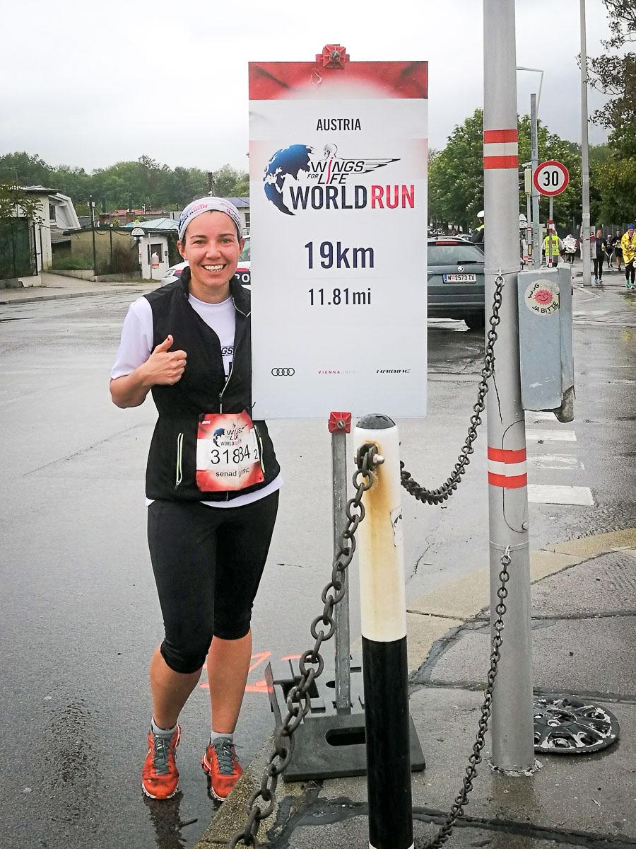 Laufen für einen guten Zweck: Katharina beim Worldrun