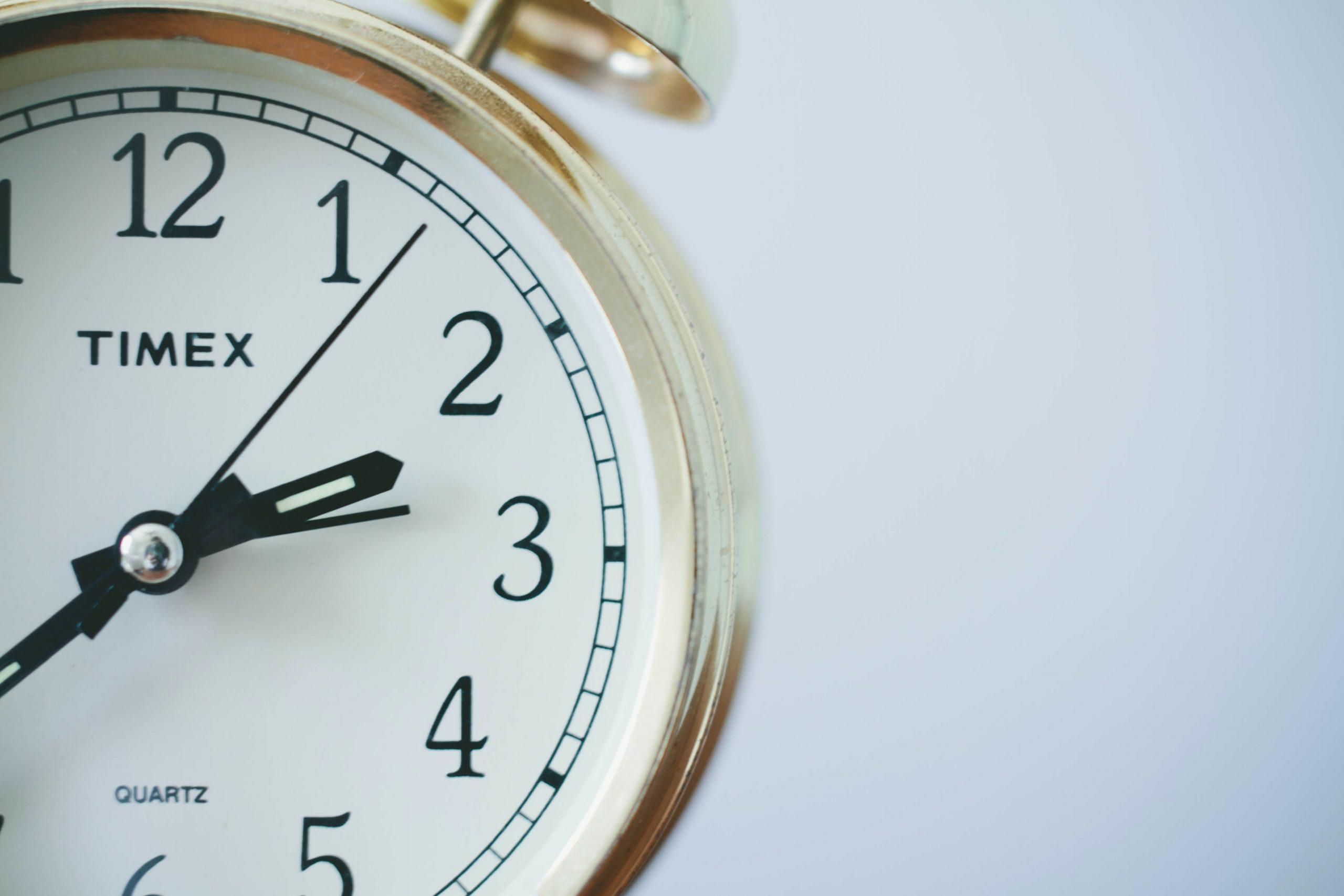 alte Uhr, Zeitangabe