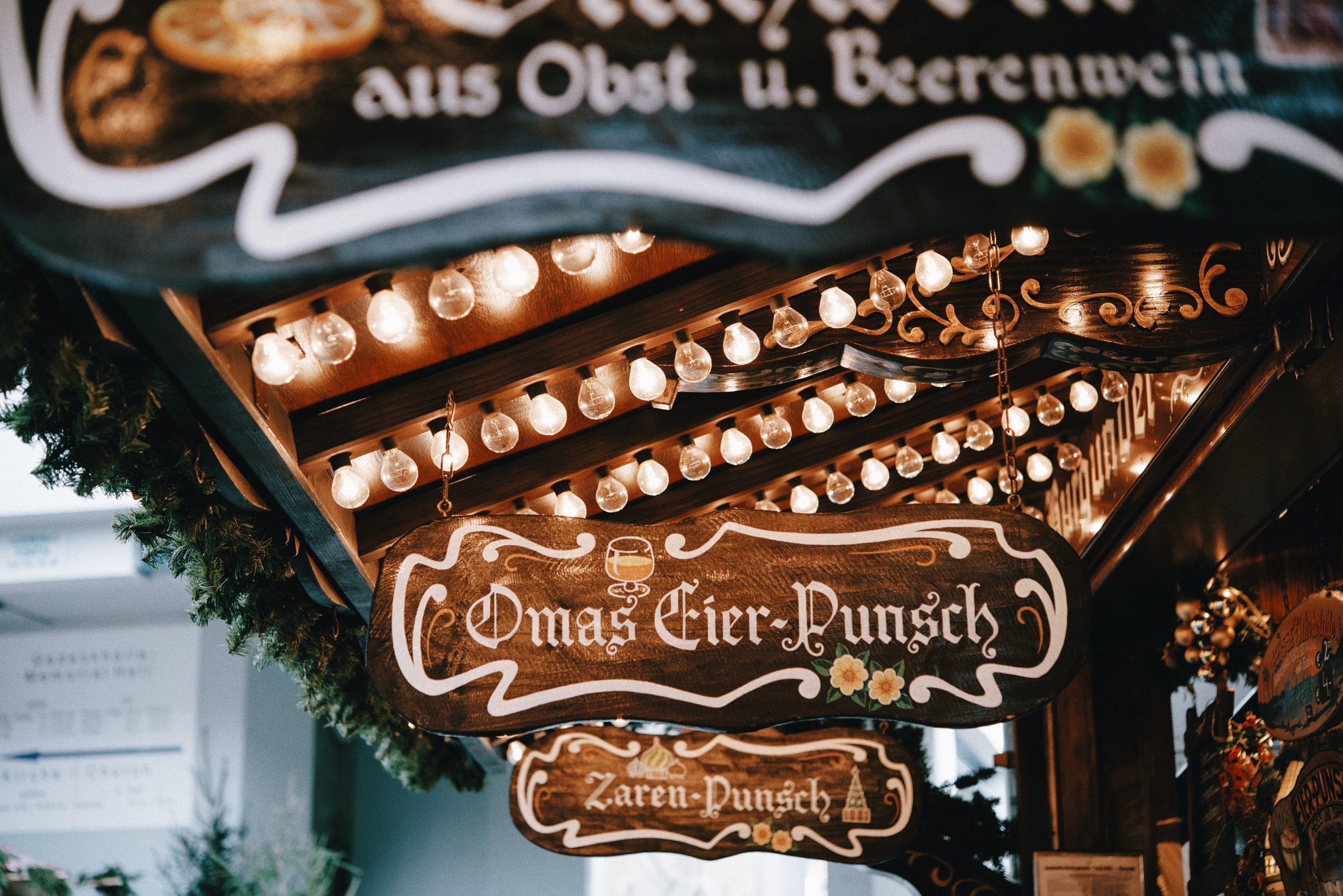 Weihnachtsmarkt_Punschstand Schild
